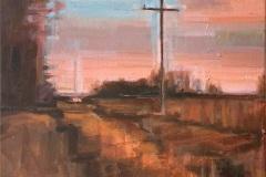 Toni Minge, der_mast_01, Öl auf Leinwand, 80 x 40 cm, 2020