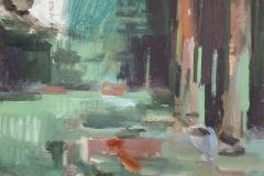 Toni Minge, der_pfad_03, Öl auf Leinwand, 40 x 30 cm, 2020