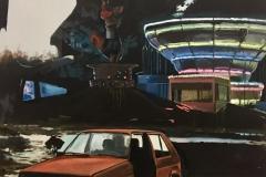 Toni Minge, Immanenz VIII, Öl auf Leinwand, 140 x 200 cm, 2018