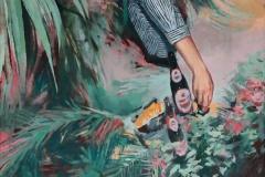Toni Minge, Das Zebra, öl auf Leinwand, 70 x 100 cm, 2018