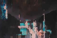 Toni Minge, Garten I, Öl auf Leinwand, 130x165 cm, 2018