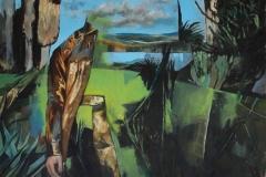 Toni Minge, Garten IV, Öl auf Leinwand, 130x165 cm, 2018