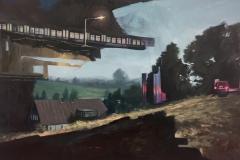 Toni Minge, Imanenz VII, Öl auf Leinwand, 150x100 cm, 2018