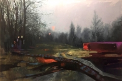 Toni Minge, Imanenz VI, Öl auf Leinwand, 120x80 cm, 2018