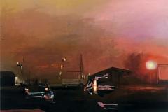 Toni Minge, Imanenz V, Öl auf Leinwand, 100x70 cm, 2018