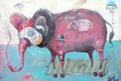 Welf Schiefer, Elepand , Mischtechnik, 80 x 60 cm, 2019