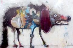 Welf Schiefer, Old Grisha, Mischtechnik, 70 x 50 cm, 2019