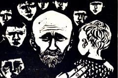 Werner Schinko, Korczak, Holzschnitt