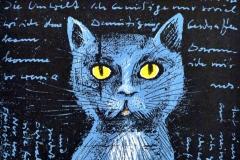 Werner Schinko, Zu Ehren der Katze, Siebdruck